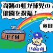 夏の甲子園は桐蔭が金足農をなぎ倒した!試合後両チームの健闘を祝し虹が…