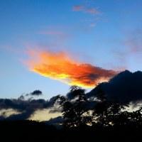 台風21号(チェービー)直前の夕焼け空。