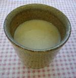 甘酒の豆乳割り(生姜入り)