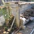薪棚の修理