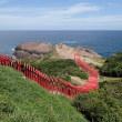 《青い海と赤い鳥居が美しい元乃隅稲成神社》2017年9月山口旅行