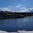 鳥海山のある風景(初冬の黒森貯水池)
