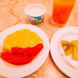 今日もホテルの朝食です