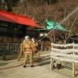 勝尾寺で消防訓練がありました!