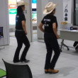 カントリーダンスチーム「クローバー」リハ中パシャッ! Σp[【◎】]ω・´)