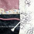 5月に着ていた着物 京藤色(?)の着物に黒繻子の帯