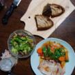 塩豚のソテー玉葱人参馬鈴薯のケチャップ煮込みソース