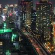 東京は汐留付近の夜景と700系新幹線(2018年1月6日 オマケは東京タワー)