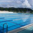 【屋外プールの水温低下、気持ちいい!】