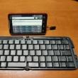 大変便利で、格安でテザリングが出来るEVOです。Bleutoothキーボードを準備しました。