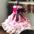 ピンクのリボンでドレスアレンジメント ~チェルシーピンクを元に~