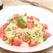 トマトとホタテの冷たいパスタ