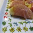 桃と生ハムと先生のお皿