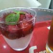 【SEGAFREDO 】 ミントの 葉 も 涼しげな 苺パンナコッタ と アイスティー 東京 広尾