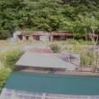 姉方地震被害状況と東側ネット完了