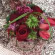 浜松講師会、赤い花の花束。