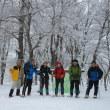 雪の大万木山登山