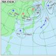 9月19日 アメダスと天気図。