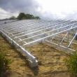野立てソーラーパネル架台設置工事