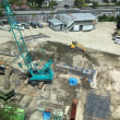 駐車場工事進捗状況