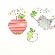 リンゴとトリとイチョウ