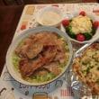 豚ロースかりかり焼き~おろしポン酢&納豆ピザ風&ブロッコリー玉マヨサラダ