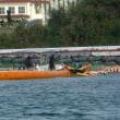 K1護岸の汚濁防止膜移動に対する抗議行動