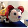 とっつあんの師走の風物詩3(^^♪高槻市立しろあと歴史館展示の郷土玩具 出雲張子(島根県)「首振り犬」