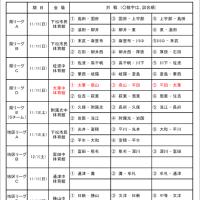 [開催中]平成30年度U15リーグ戦(前期)