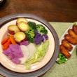 映画&蒸し野菜の夕ご飯