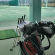 ゴルフ練習場でニューアイアンの確認練習
