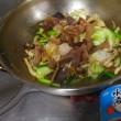 15.06.17 恥飯 _ 朝、肉がなかったからサバ水煮缶代用の野菜炒めドンブリめし。