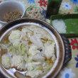 懐かし…鶏ひき肉の鍋