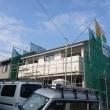 岡山市東区瀬戸町での住宅新築現場で外装工事も着実に進行