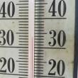 今日は猛暑日で三次の最高気温が37度