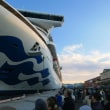 エスパルスドリームプラザ観覧車から見えた豪華客船「ダイヤモンドプリンセス」 その1 (2018年12月)
