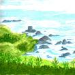 日本海「佐渡」の海景色