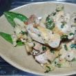 レンコンと鶏肉のバジル炒め