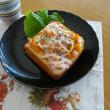 マッシュかぼちゃ&ベーコンのたらこチーズトースト