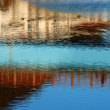 『木橋』 水面に
