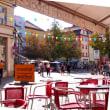 レーゲンスブルクのオープンカフェ