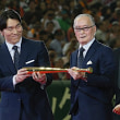 長嶋さん、松井さん「国民栄誉賞」受賞式。