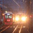 静岡鉄道はA3002と「ちびまる子ラッピング電車」の交錯(草薙-御門台)