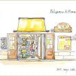 南イタリア・スケッチ・その35 ポリニャーノアマーレ・土産物店