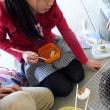 小学校3年生の社会科「七輪での火おこし」