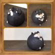 梅原育子さんの犬と豚の陶器の貯金箱