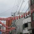 昨日、町のお祭り風景