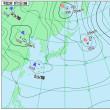 9月17日 アメダスと天気図。