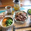 お昼ご飯 ランニング後はお肉です