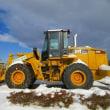 除雪作業を終えた機械